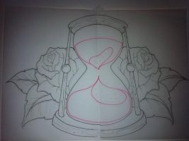 Hour Glass Tattoo Design by booders9