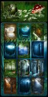 Woodland Dream backgrounds by moonchild-lj-stock