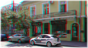 3D anaglyph In Bucharest 30 by gogu1234