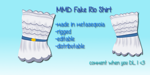 mmd Fake Rio Shirt by Tehrainbowllama