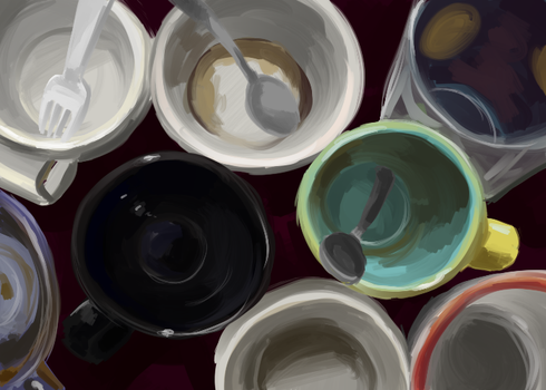 Shallow Cups- Color study 30m by pettyartist