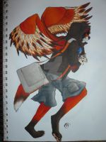 Winged Foxfur drawing by Neofox462