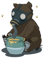 Gas Mask Bear by springloaded