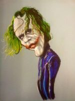 Heath Ledger as the Joker by DoodleArtStudios