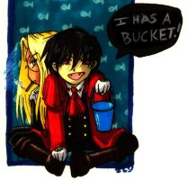 Hellsing - I has a bucket by ellensama