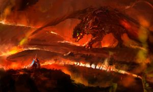 20150611 Dragon Knight Fire by psdeluxe