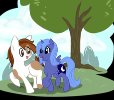 Woona and pip by Opalwhisker
