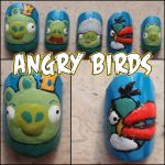 angry birds fake nails 2 by Ninails