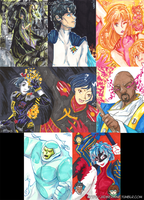 Tangent Comics ACEO-ATCs by JadineR
