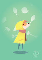 Fox in a raincoat by westykid