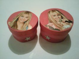 Hanna Montana gift box by GokkiVanGogh