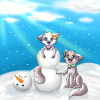Silly Snowman by eevee4everX3