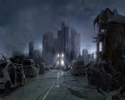 Post Apocalypse Downtown Los Angeles by myjavier007
