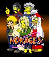 Naruto Simpsons - Hokages by lloydvdw
