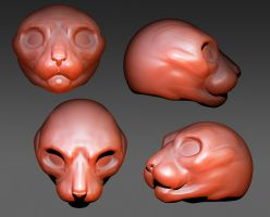 Zbrush Cat face sculpt by nekonotaishou