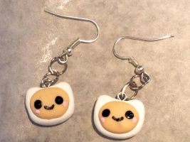 Cold porcelain Finn earrings by Saloscraftshop