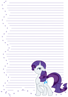 MLP: FiM Rarity Notepaper by Dekkii