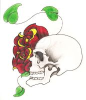 Skull n Rose 2 by estelleam