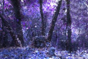 Purple Forest Light by Pendragon1951