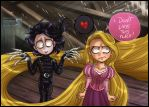 Edward Scissorhands + Rapunzel by daekazu