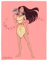 Pocahontas fan art, Disney princesses collection by ariartna