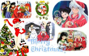 Inuyasha and Ranma Christmas by xjesus-freakx