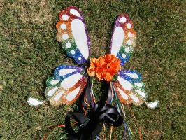 Tropical Rainbow Butterfly Wings by GeekeryMade