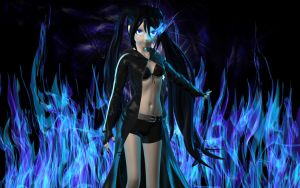 Black Rock Shooter Flames by Primantis