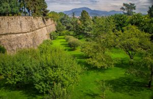 The Wall and Park around Bergamo by qwstarplayer