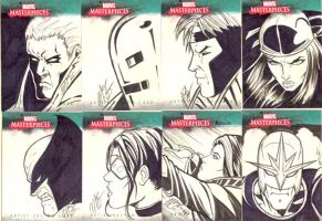 Marvel Sketch Cards 1 by martheus