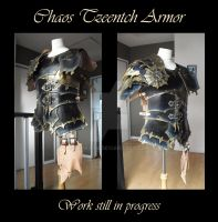 Commission : Chaos Tzeench Armor-still in progress by Deakath