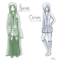 PC- Heather and Ookami by Merurucchi