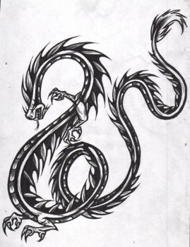 dragon tattoo by zrcalo