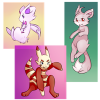 Pokefusion Adopts 3 -CLOSED- by honrupi