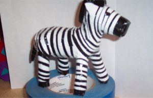 Duct Tape Zebra by kingkybo
