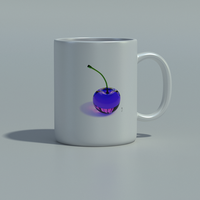 Rainbow Cherries - Mug - Purple by THE-LEMON-WATCH