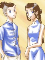 A:TLA: Sokka and Katara by Krake