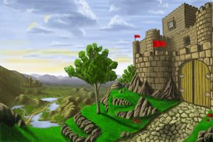 castle in the wild by JOVictory