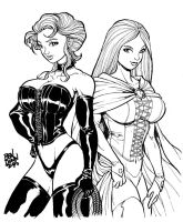 Black and White Queen X-Men by Dogsupreme