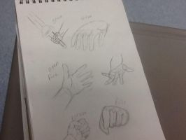 Hand practice. by TailsicaTFox