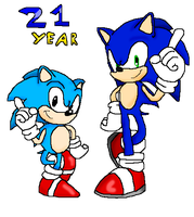Sonic generations 21 Years by pawstudio