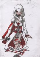 Assassin's lady colored by Anidimuka