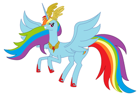 Alicorn Rainbow Dash by RandomThingsILike