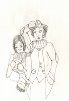 The Doctor and Sarah Jane by Mistress-Fluffeh