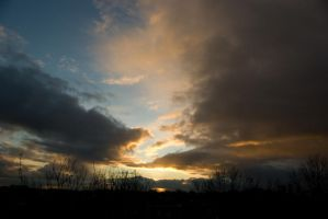 Todays evening sky 1 by steppelandstock