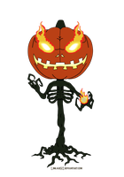 Pumpkin Head Reaper - Chibi Commission by Linkage92
