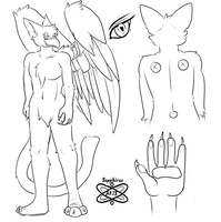 Clyne Character Ref +WIP commission + by iSapphirus