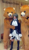 Ciel with two Pedobears by SailorDerp