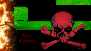 Alice Cooper Skull by greendrakkon