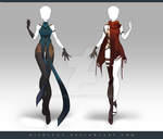 (CLOSED) Adoptable Outfit Auction 198 - 199 by Risoluce